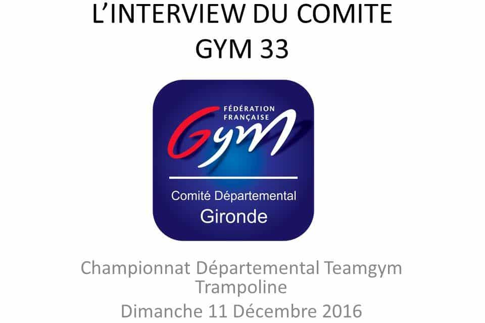 « Interview Comité Gym 33 » Florian Doat
