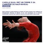 Camille Bahl met un terme à sa carrière de gymnaste