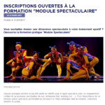 FORMATION MODULE SPECTACULAIRE