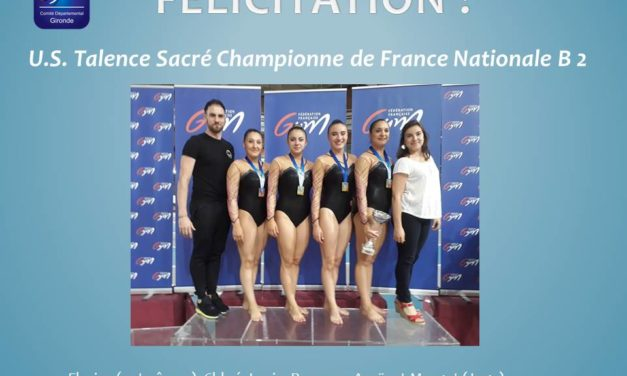 Championnat de France Equipe GAF Le 9, 10 et 11 Juin 2017 à LYON