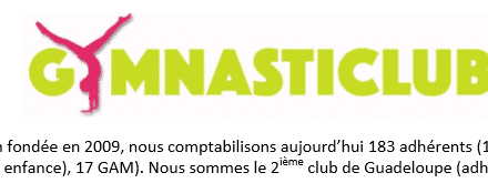 GYMNASTICLUB 2ème club de Guadeloupe Recherche 1 entraîneurs en urgence !
