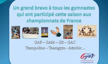 PODIUMS LORS DES CHAMPIONNATS DE FRANCE : FÉLICITATION AUX CLUBS GIRONDINS !