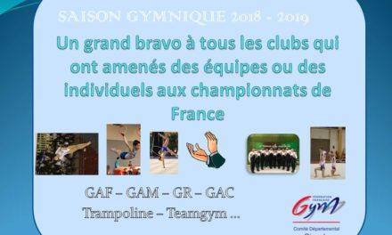 PODIUMS AUX CHAMPIONNATS DE FRANCE : FÉLICITATION AUX CLUBS GIRONDINS !