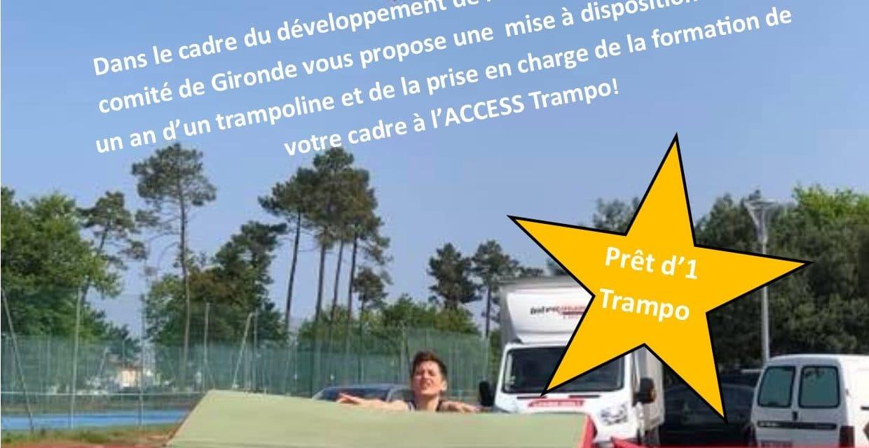 Aide du comité sur un projet de développement d'une section trampoline