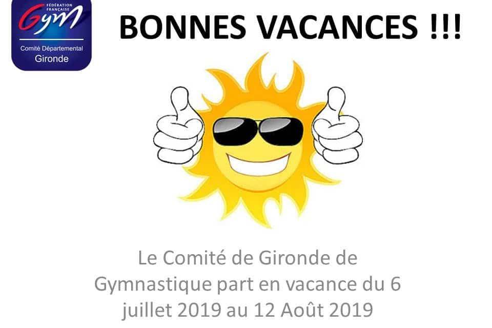Vacances d'été 2019