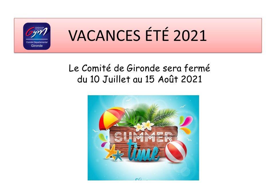 Vacances été 2021