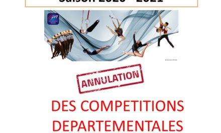 Compétitions Départementales pour la saison 2021