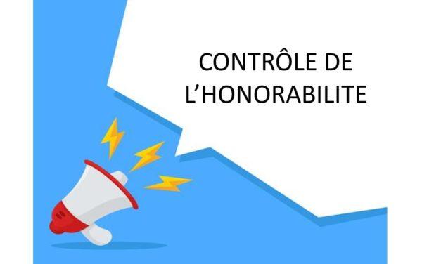 Contrôle de l'Honorabilité